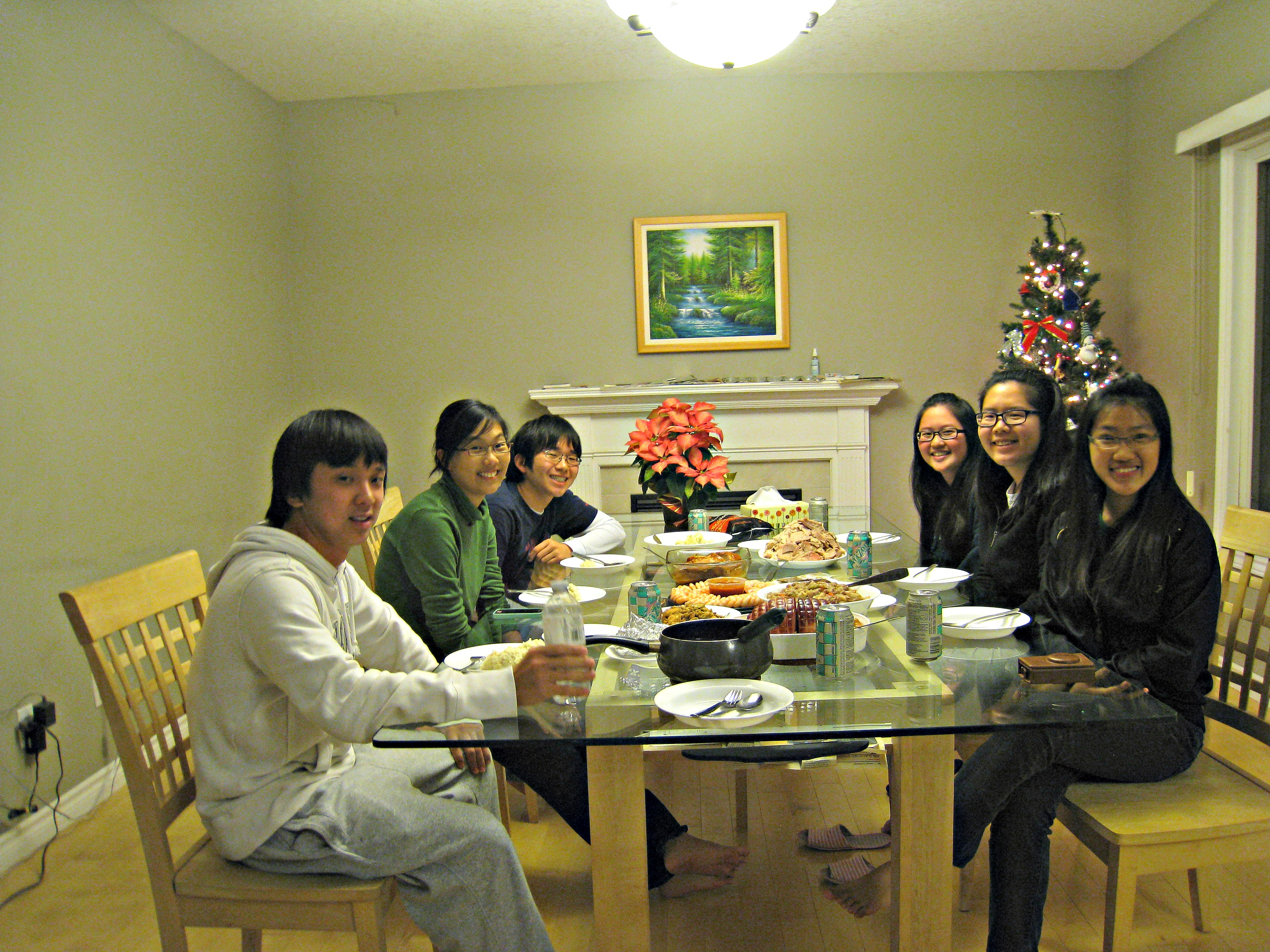 Christmas dinner for Fall 2012 NTU/NUS students