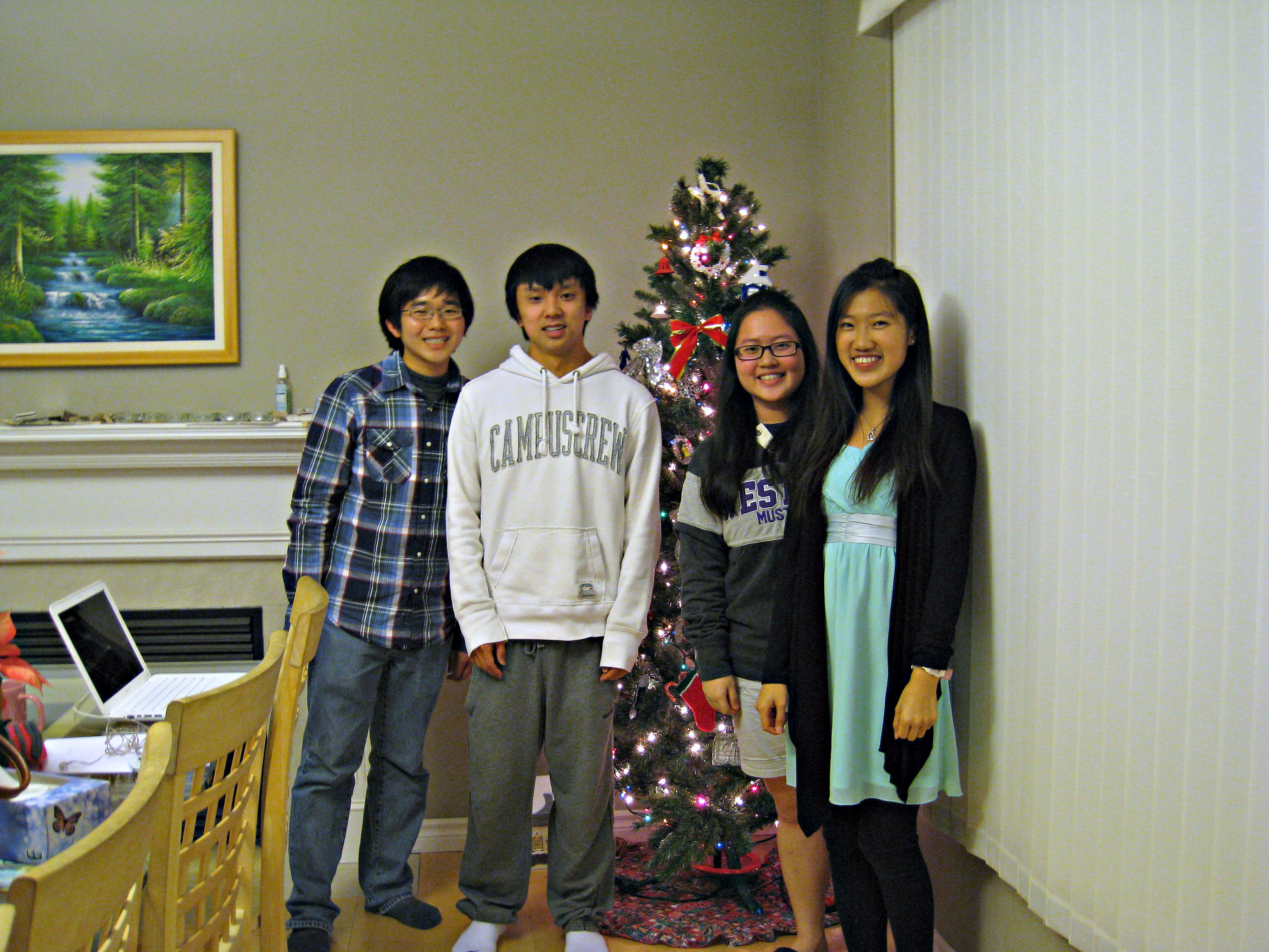 Danny with John, Stella & Cheryl (Fall 2012 students)
