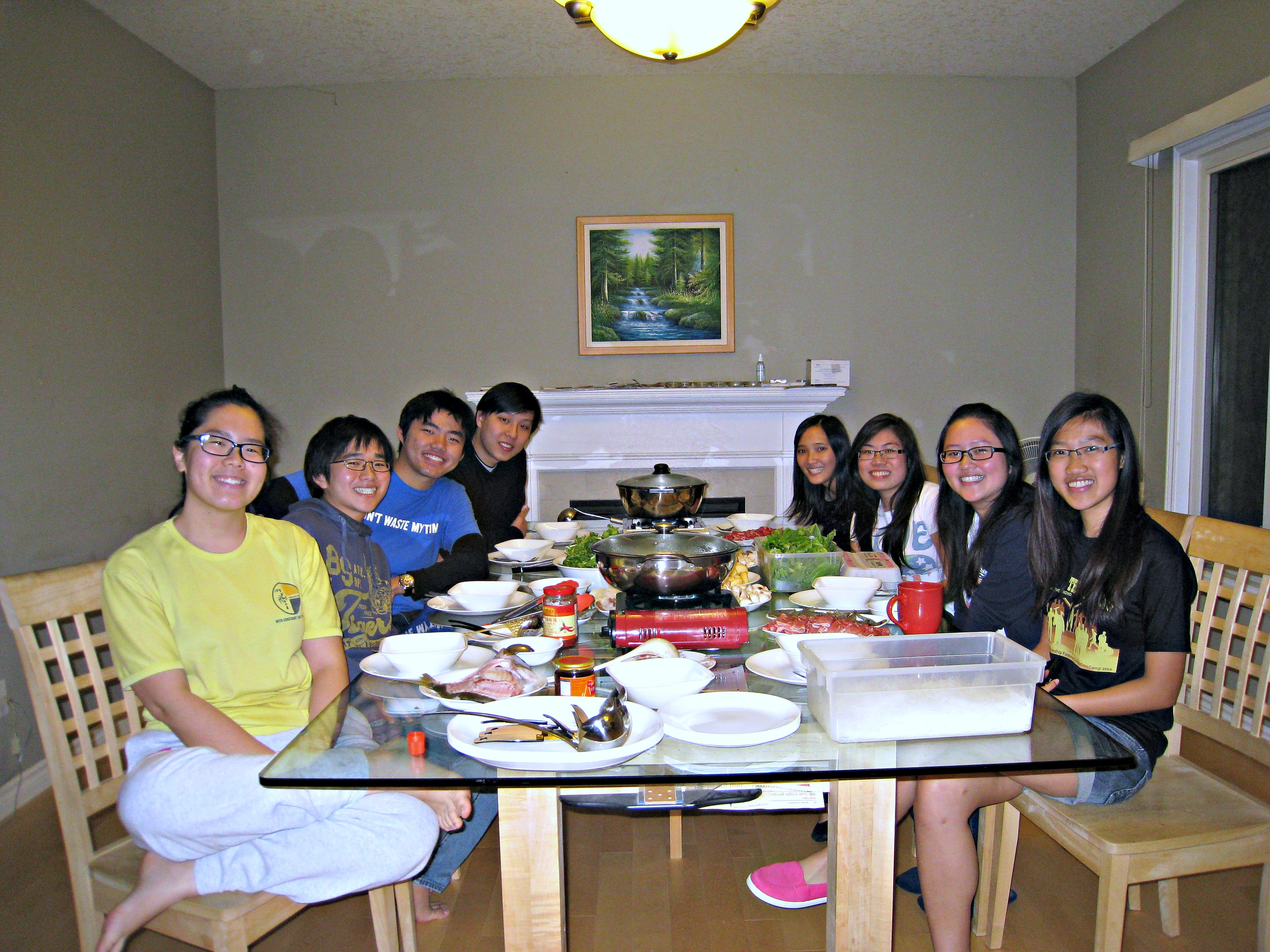 Steamboat dinner for Fall NTU 2012 students & their friends