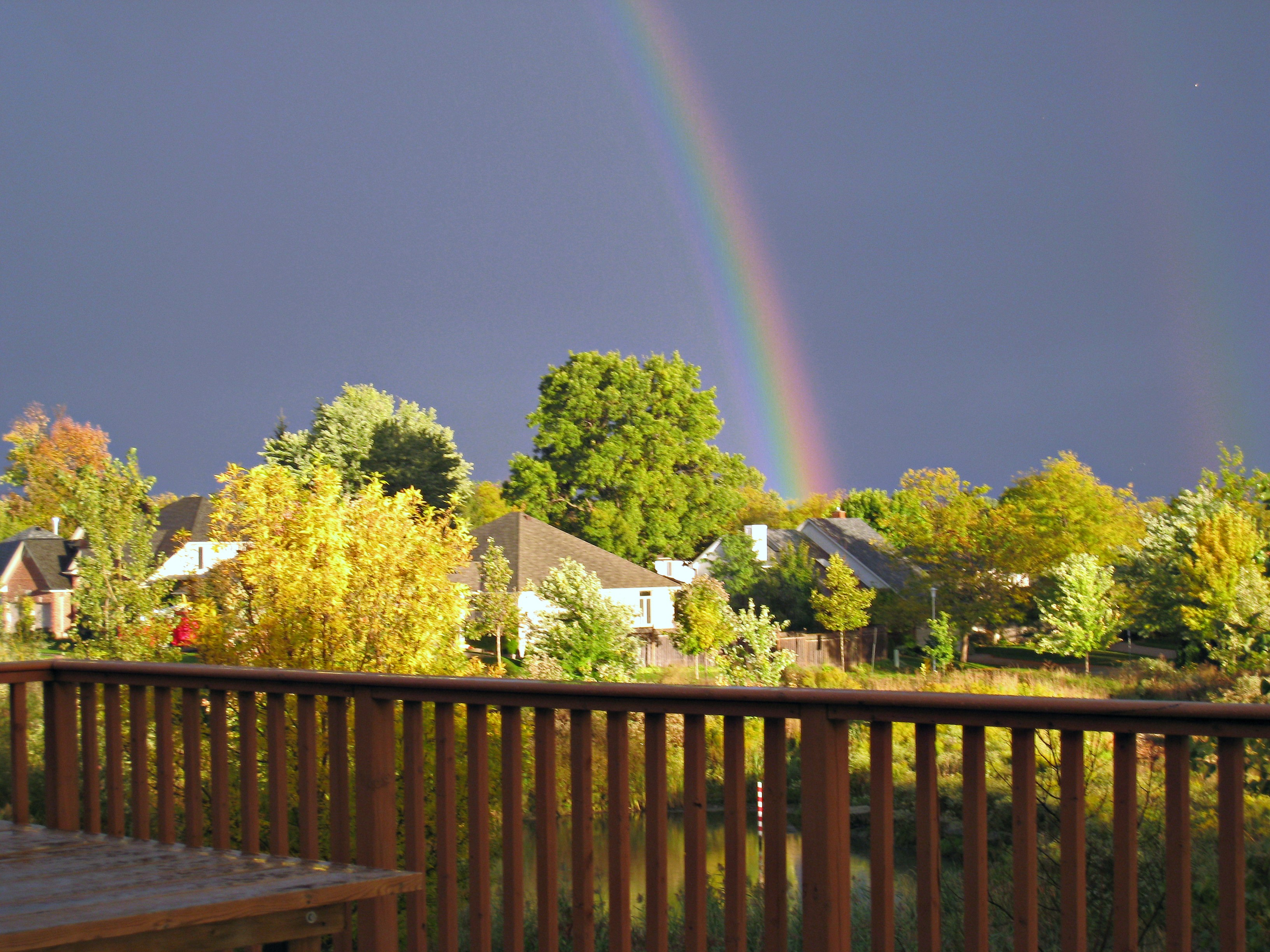 Deck with a view of Rainbow